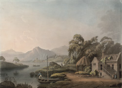 A distant view of Bowness and part of Windermere Lake